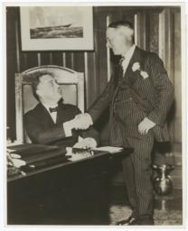 Al Smith and then New York governor Franklin Delano Roosevelt