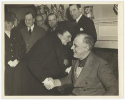Photograph of Frances Perkins and President Franklin Delano Roosevelt