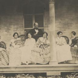 Seven People on Porch, Seated