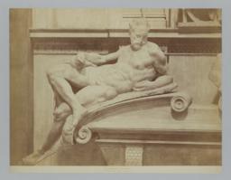 Detail of left-hand figure from tomb of Lorenzo De Medici