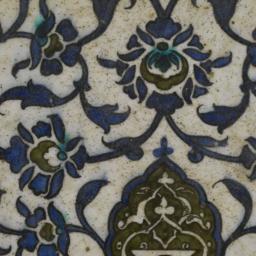 Tile with Floral Design
