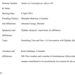 Minutes, 2014-04-08. Studie...