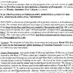 Announcements, 2000-09-25. ...