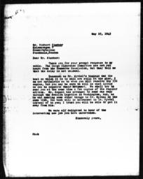 Letter from Florence Anderson to Richard Sterner, May 25, 1943