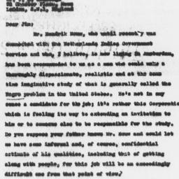 Letter from Frederick P. Ke...