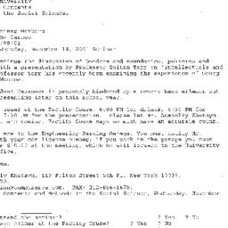 Announcements, 2001-11-14. ...