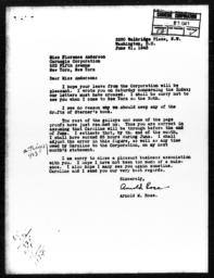 Letter from Arnold M. Rose to Florence Anderson, June 21, 1943