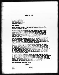 Letter from Gunnar Myrdal to Richard Sterner, April 25, 1941