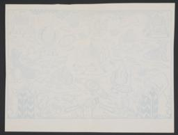 Illustration of big, blue, and white, verso