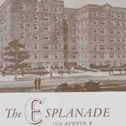 The     Esplanade, 1916 Ave...