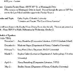 Announcements, 2002-10-04. ...