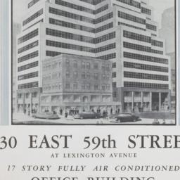130 E. 59 Street, 130 East ...