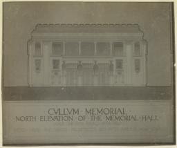 Cullum Memorial, North elevation of the Memorial Hall. McKim, Mead and White Architects. 160 Fifth Avenue, New York