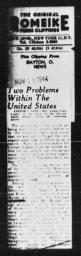 "Article referencing AN AMERICAN DILEMMA, ""Two Problems Within The United States,"" DAYTON NEWS, November 19, 1944"