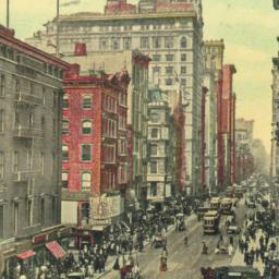 Astor House and Broadway, N...