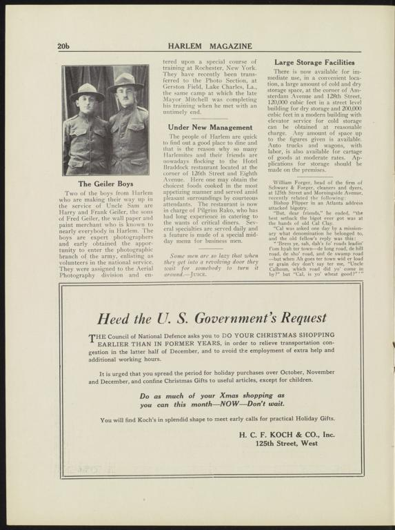 Harlem Magazine : Vol  7  No  5, October 1918 - Columbia Digital