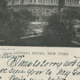 Ansonia Hotel, New York