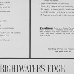 Brightwaters Edge, Howells ...