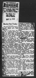 Article announcing release of Richard Sterner's THE NEGRO'S SHARE, NEW YORK HERALD TRIBUNE, May 26, 1943
