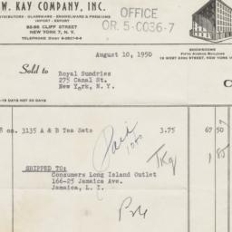 W. Kay Company, Inc. Bill o...