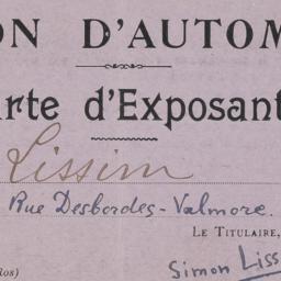 1923 Salon d'Automne Carte ...