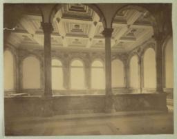 [Boston Public Library, interior colonnade]