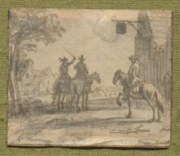 Riders Outside an Inn