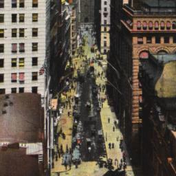 New York, Wall St. Birds Ey...