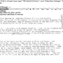 Announcements, 2004-03-31. ...