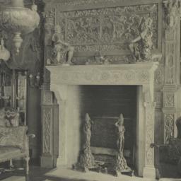 Drawing room, detail of man...