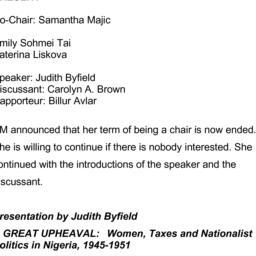 Minutes, 2014-05-19. Women ...