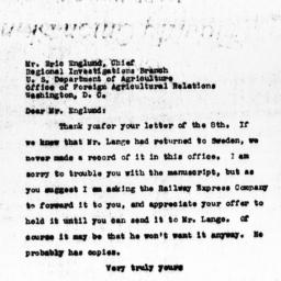 Letter from Eliza Gaylord t...