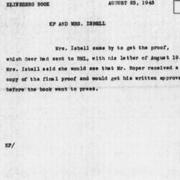 Memorandum from Katherine F...
