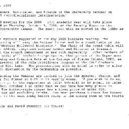 Announcements, 2000-10-05. ...
