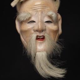 Small Mask Of Elderly Man W...