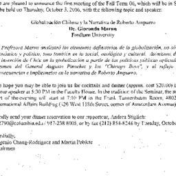 Correspondence, 2006-09-21....