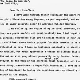 Letter from Alain Locke to ...