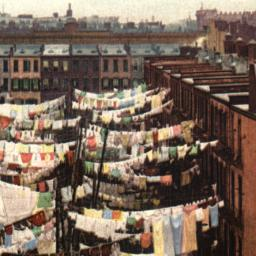 Yard of a Tenement, New York.