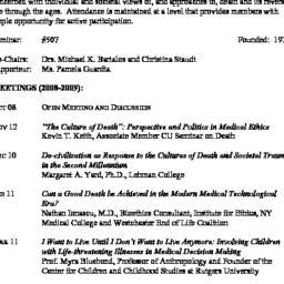 Schedules. Death, seminar 5...