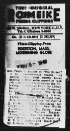 Article on book recommendations of author Ann Petry referencing AN AMERICAN DILEMMA, BOSTON MORNING GLOBE, June 15, 1948