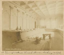 25. View of interior Lunch Room looking north