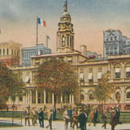 City Hall and Park, New York