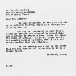 Letter from Florence Anders...