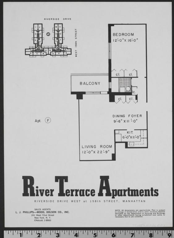 River Terrace Apartments, Riverside Dr. And W. 158 Street ...