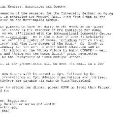 Announcements, 2005-04-25. ...