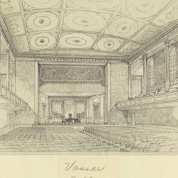 Vassar College. [Auditorium...
