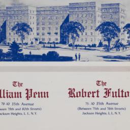 William Penn, Robert Fulton...