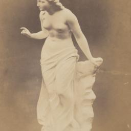 Photograph of a statue of a...