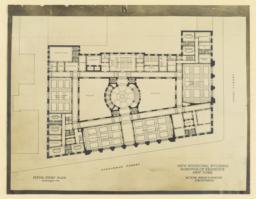 B. Fifth story plan. New Municipal Building, Borough of Brooklyn, New York. McKim, Mead & White, Architects