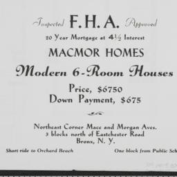 Macmor Homes, Mace Avenue A...